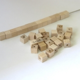 6x6mm Kostkal natural 60ks  GAMEWA Extra