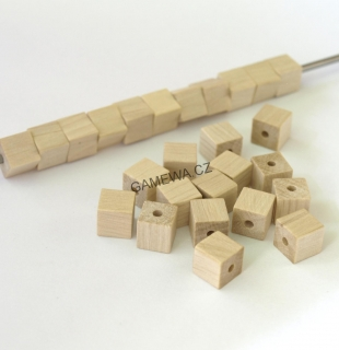8x8mm Kostkal natural 40ks  GAMEWA Extra